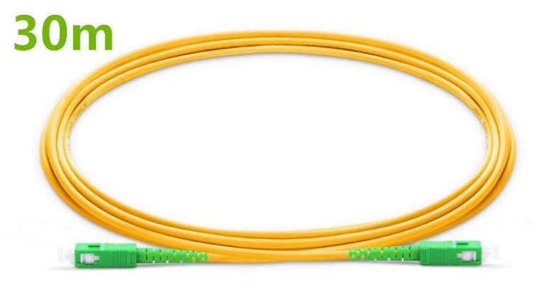 30m SC APC to SC APC Fiber Patchcord G657A Fiber Patch Cable, Jumper, Patch Cord Simplex 2.0mm PVC OS2 SM Bend Insensitive