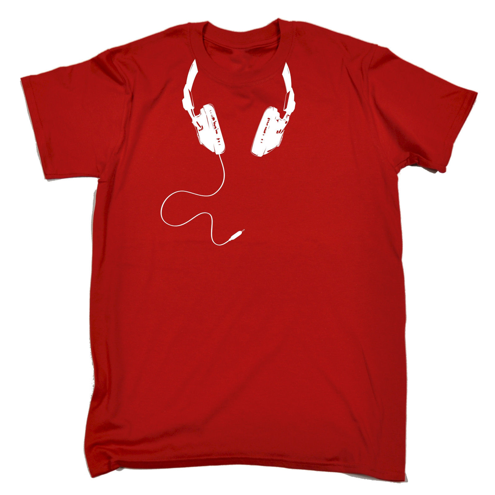 DJ Headphones Around Neck camiseta Disc Jockey fiesta baile Rave cumpleaños regalo moda hombres y mujeres camiseta envío gratis