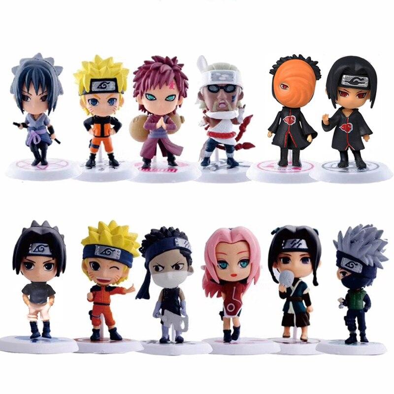 1 шт./лот аниме Наруто фигурку игрушки 12 видов стилей Zabuza Haku Kakashi Sasuke Naruto Сакура ПВХ Модель Коллекция детские игрушки