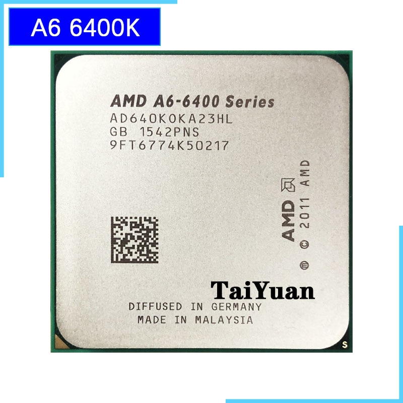 AMD A6-Series A6-6400K A6 6400 A6 6400K 3,9G 65W Dual-Core CPU procesador AD640KOKA23HL/AD640BOKA23HL hembra FM2
