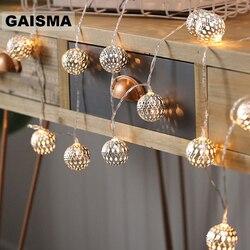 10 m bola led guirlanda de natal luzes da corda quarto luzes de fadas decoração para festa de casamento casa iluminação corrente