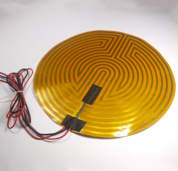 Funssor-أجزاء طابعة ثلاثية الأبعاد ، اصنعها بنفسك ، 12 فولت ، 120 واط ، 330 مللي متر ، سخان دائري Kapton ، الثرمستور لـ RepRap Kossel ، منحدر