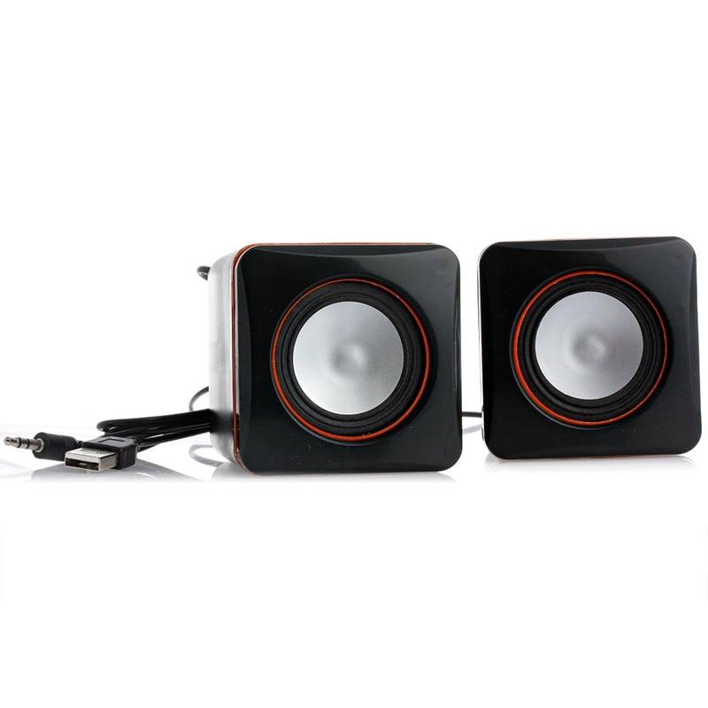 1 unidad portátil Mini USB Audio reproductor de música altavoz para iPhone iPad MP3 ordenador portátil PC