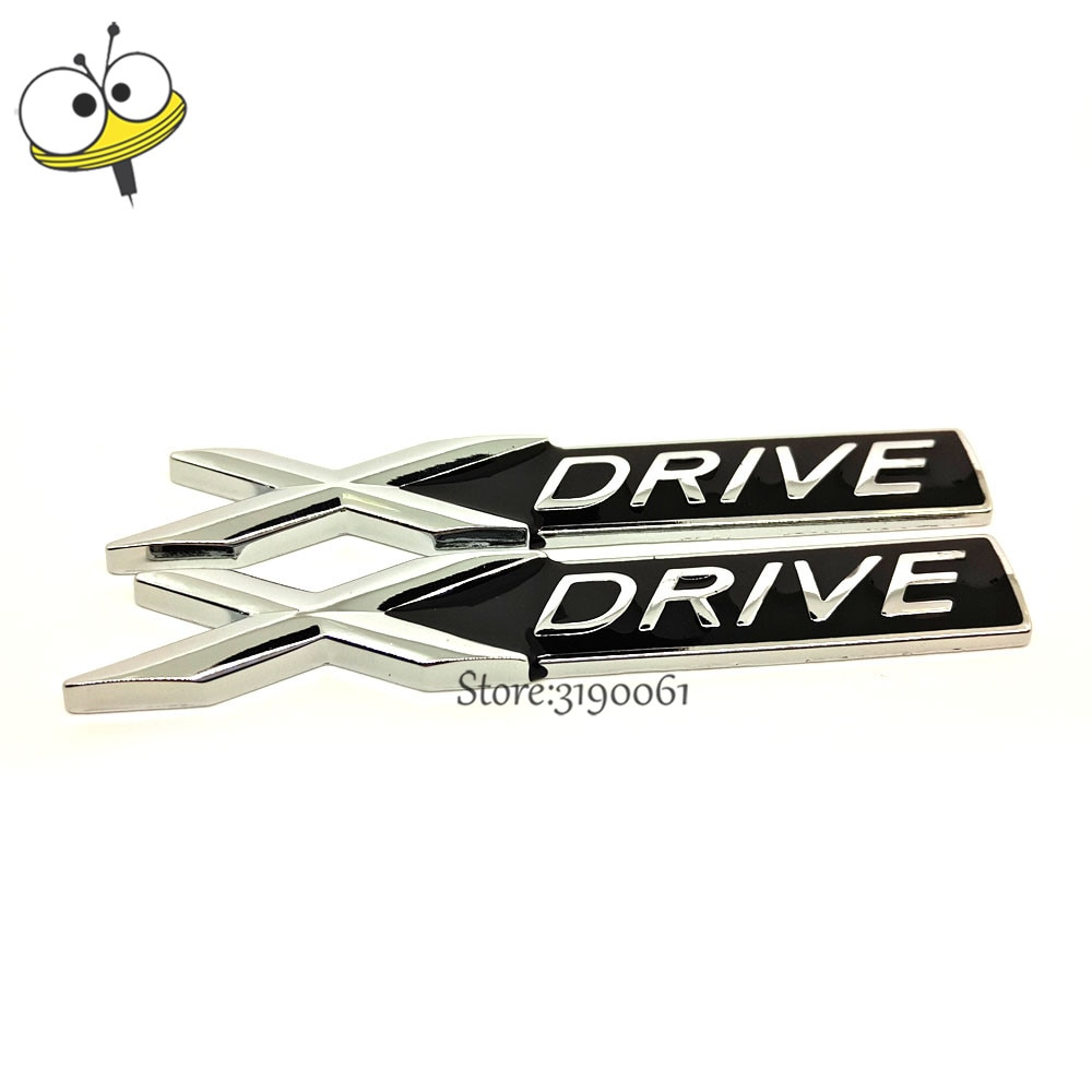 Car Styling 3D Emblem for BMW X-DRIVE X1 X3 X4 X5 X6 X7 X2 X8 F48 F25 G01 E53 E83 E84 E70 E71 Badge Auto Decal Metal Sticker