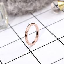 YUN RUO moderne simplifier or Rose couleur losange anneau dame cadeau danniversaire pour femme mode titane acier bijoux ne se décolore jamais