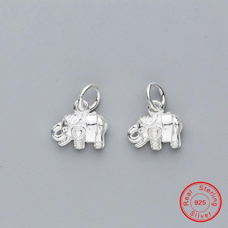 uqbing-925-пробы-серебро-свежий-элегантный-слон-Висячие-Подвески-бусины-для-diy-Шарм-браслет-Изготовление-ювелирных-ожерелий