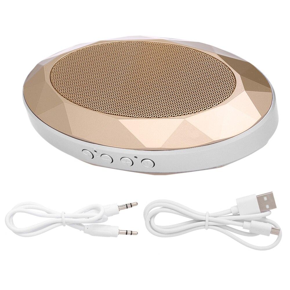 Altavoz portátil Bluetooth AJB-001 V4.2 + EDR altavoz estilo diamante Subwoofer estéreo caja de sonido soporte tarjeta TF AUX en altavoz