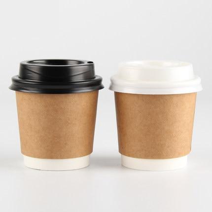 Lote de vasos desechables de papel grueso de 4oz, taza de té...