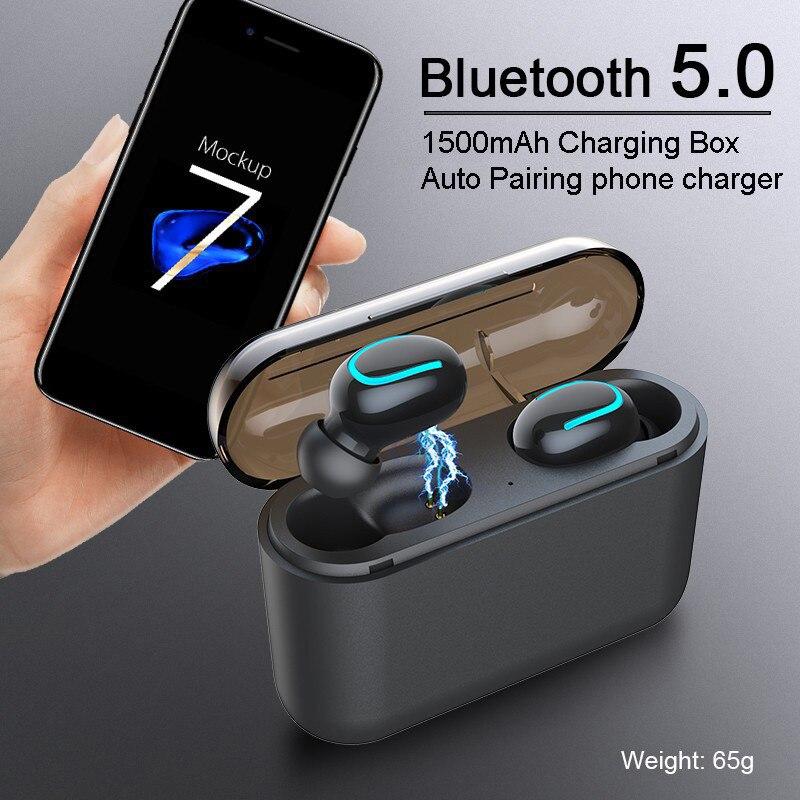 Auriculares inalámbricos Bluetooth 5,0 manos libres auriculares para videojuegos auriculares con cancelación de ruido para Samsung Galaxy S10 Plus S10e Lite S9 S8 2P