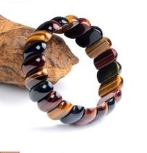 Bracelet en pierre naturelle oeil de tigre couleur rouge jaune bleu afrique du sud ligne de main oeil de tigre chaîne de main en bois alexandrite
