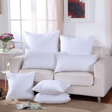 Классическая однотонная чистая Подушка 9 размеров, забавная мягкая подушка для головы, внутренняя ПП хлопковая наполнитель, индивидуальная...