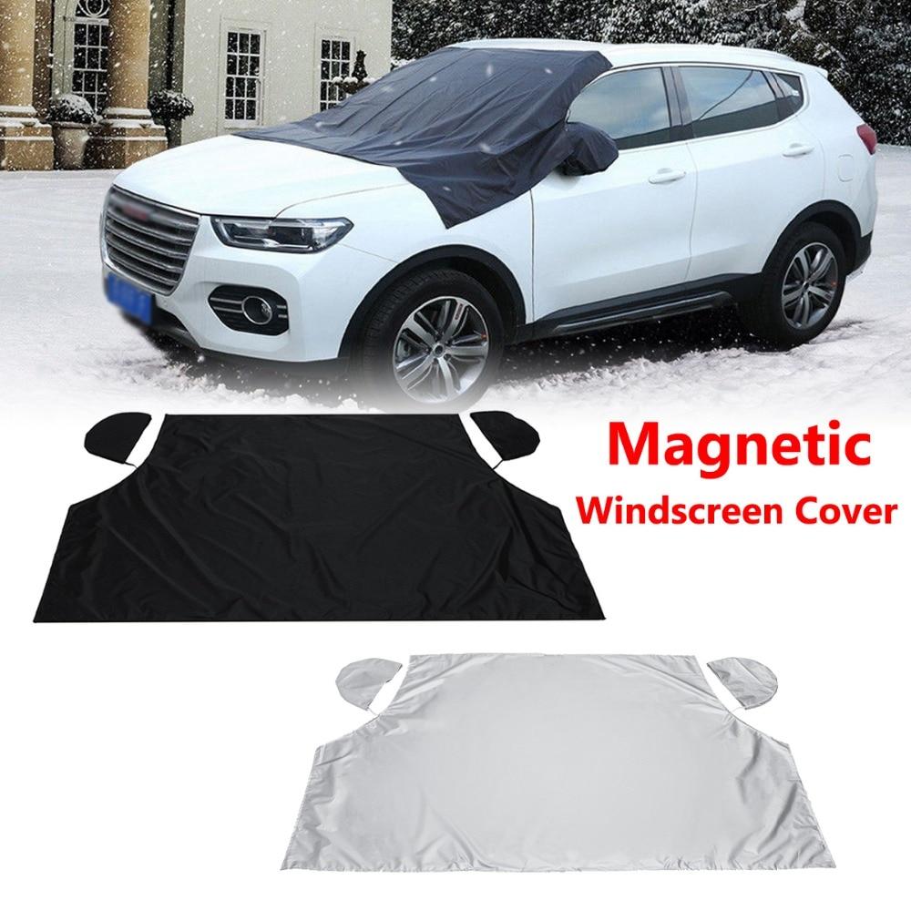 Carro magnético meio pára-brisas capa sol neve gelo geada vento inverno protetor 208cm x 120cm para carro suv