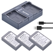 3Pc PS-BLS5 BLS-5 BLS5 BLS 5 BLS-50 batterie + double chargeur USB pour Olympus OM-D E-M10, stylo E-PL2, E-PL5, E-PL6, E-PM2, stylet 1