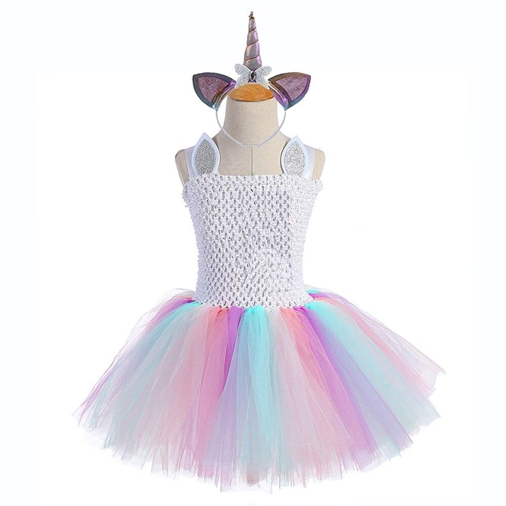 Vestido de fiesta sorpresa de unicornio mullido para niños niñas Lol muñecas patrón Lol unicornio vestido de tutú sin mangas Niñas Ropa 10 12 años