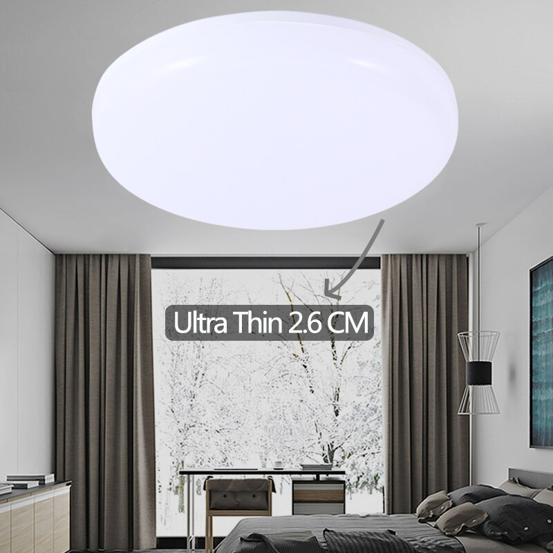 Modernas lámparas de luz de techo LED accesorios W 15W 20W 30W 50W 220V lámpara de techo luces de iluminación para la sala de casa Oficina Cocina