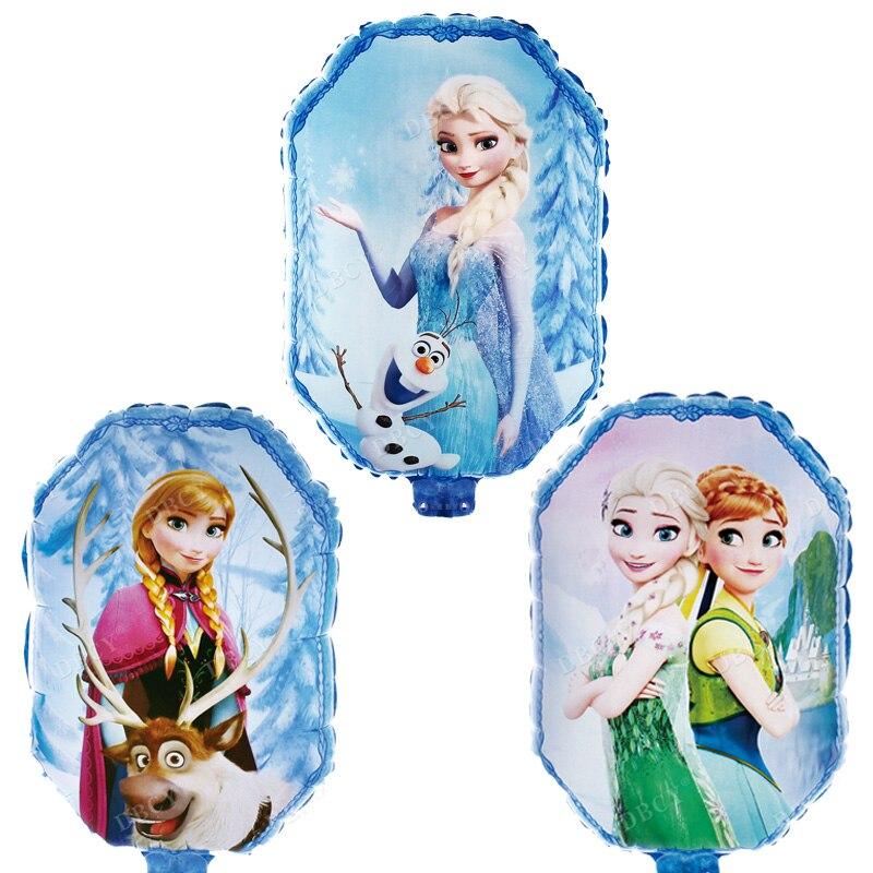 30 Uds Globos congelados de princesa de Disney Elsa Anna Globos de helio decoraciones para fiesta de cumpleaños niños suministros de boda Niña