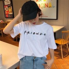 Friends tv show vêtements 2019 t-shirt kawaii coréen t-shirt 90s femmes femmes haut t-shirts harajuku graphique t-shirt fille été