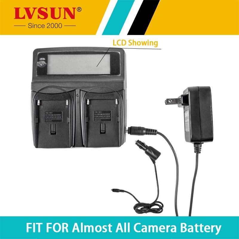 LVSUN Универсальное зарядное устройство для камеры постоянного тока и автомобиля для Panasonic VW-VBN390 VW-VBN130 VW-VBN260 HDC-HS900 HDC-TM900