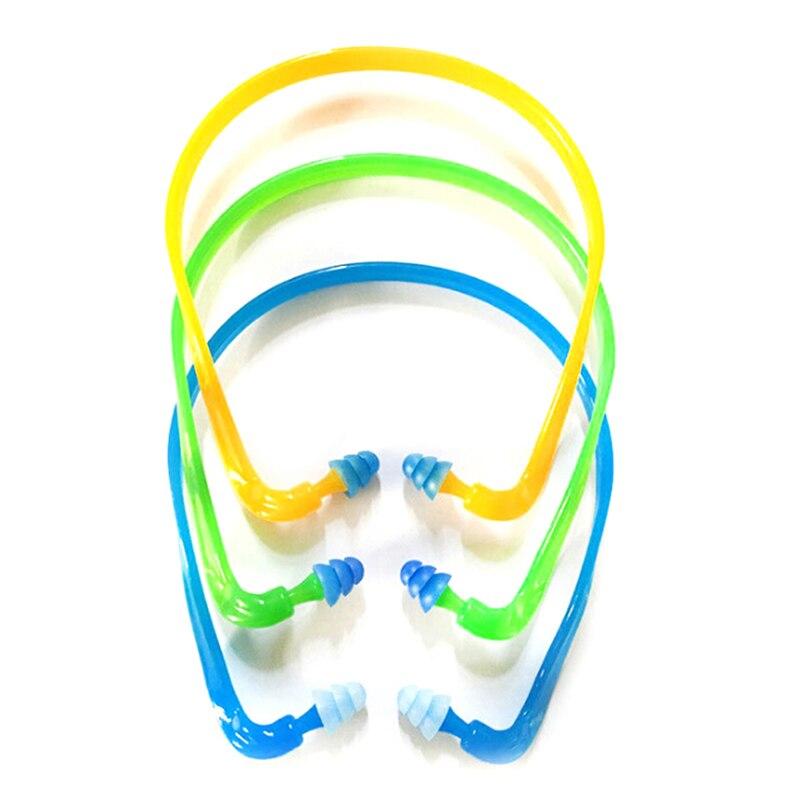 1Pcs Swim Reusable Hearing Protection Noise Reduction Earplugs Earmuff Silicone Corded Ear Plugs Ears Protector