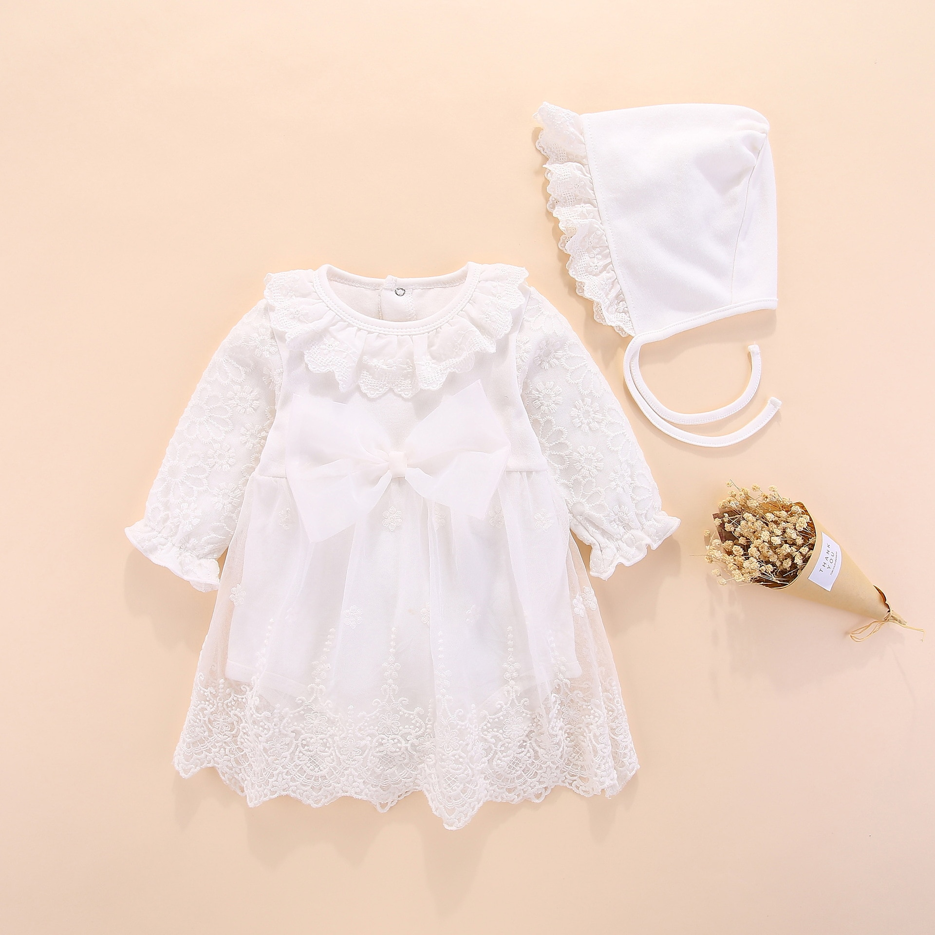 New born baby girl dress 1st Birthday gifts for little girls Princess dress Christening Gown white Baby Girl Baptism Dress