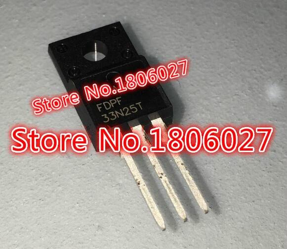 Enviar livre 20 pces fdpf33n25t TO-220F 250 v 33a o tubo de efeito de campo