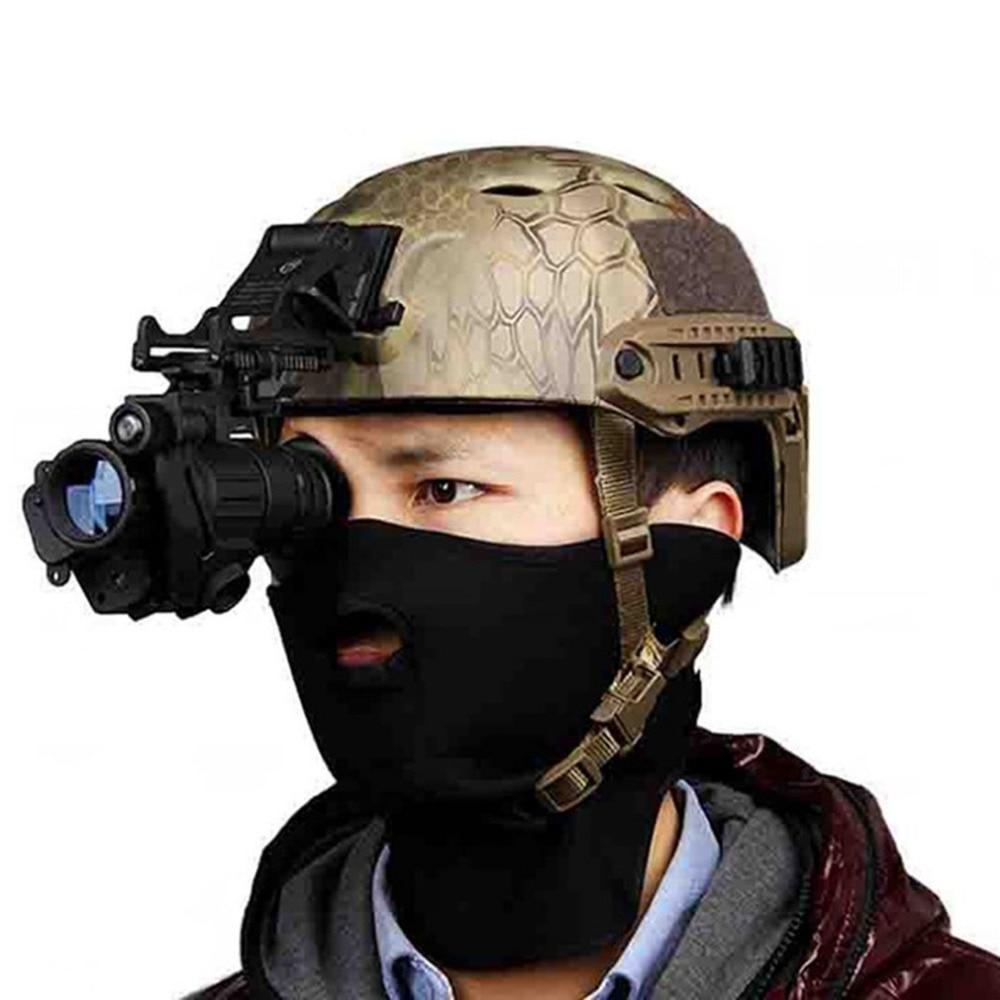 Охотничий прицел ночного видения, монокулярное устройство, водонепроницаемые очки ночного видения, PVS-14, цифровая ИК подсветка для шлема, Но...