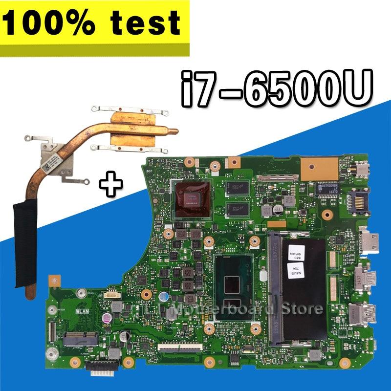 Placa madre x556ui I7-6500U para ASUS X556U X556UJ X556UV placa base para portátil x556ui placa base x556ui placa base 100% prueba OK