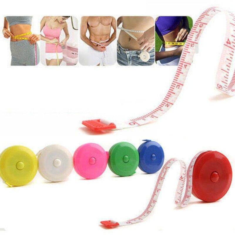 Retráctil regla, cinta métrica 60 pulgadas 1,5 M costura a medida de tela de cinta plana medida herramientas de grasa corporal Monitor