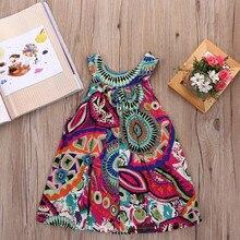 Robe dété pour bébés filles   En coton, Crochet, sans manches, style Boho, vêtements princesse de fête, pour spectacle