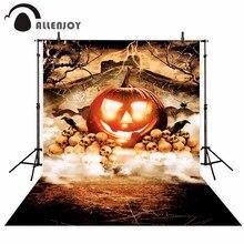 Allenjoy Halloween achtergrond enge pompoen schedel kraai spider lightning fotografie achtergronden fotografische achtergrond