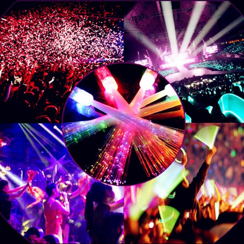 20pcs/lot 35cm led flashing stick colorful glow fiber optic stick concert cheer up props light magic wands party decoration