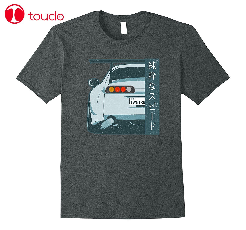 2019 Nova Fresco Camiseta Velocidade Corrida de Rua Gtr Jdm Japonês Kanji 350Z Angustiado T Shirt Da Forma do Algodão T-Shirt Do Carro hoodies