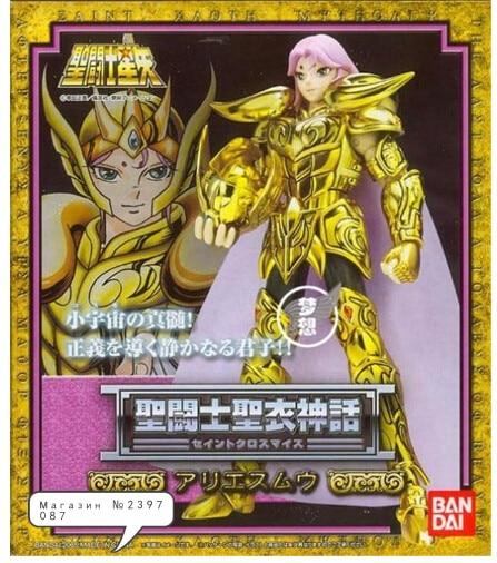 Bandai النسخة اليابانية سانت سيا 1.0 الذهب سانت الحمل Mu النسخة القديمة الذهب معدن