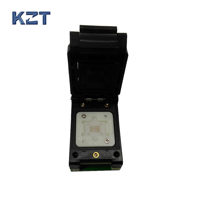 Bga63 0.8mm sonda programador proman soquete adaptador tamanho 10.5*13.5mm 9*11mm bga63 para dip48 pino da ponta de prova soquete bga63 flip pogo pino