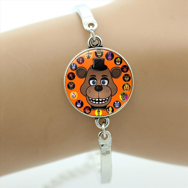 Nueva funda de moda de juego de dibujos animados para Five Nights at Freddys bracelets FNAF Mangle astuto mujeres niños joyería regalos para niños CT04