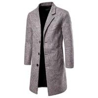 winter wool coat mens high quality wool coat casual slim collar wool coat mens long cotton collar trench coat