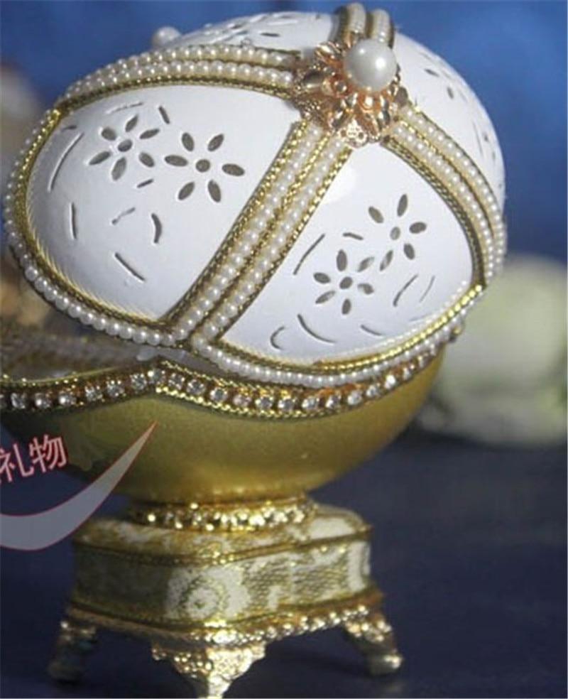 Royal Golden Fabergé Ovo Anel de Jóias Caixa De Música Caixa de Música Caixa de Música de Presente de Aniversário para As Meninas Casado Lembrança