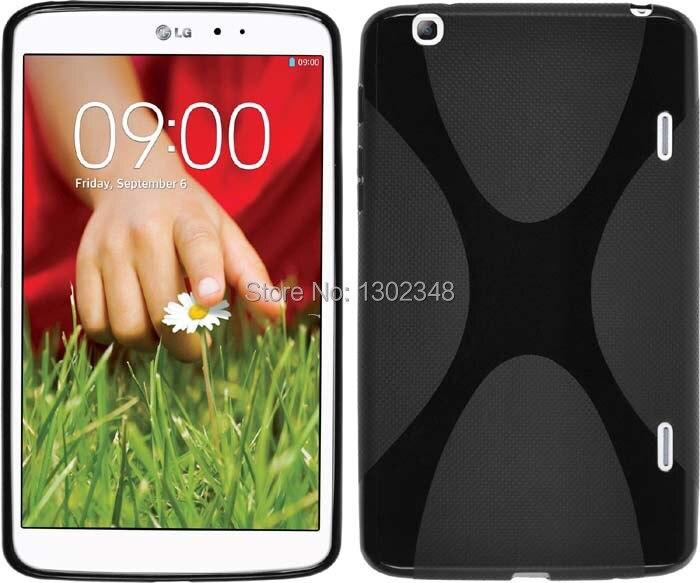 Delgado antideslizante mate X Line Wave impermeable TPU cubierta trasera de silicona suave Funda para LG G pad 8,3 v500 Tablet de 8,0 pulgadas