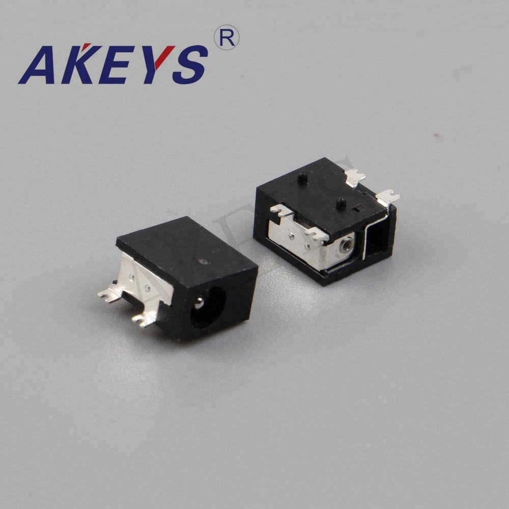 20PCS DC-033 DC power jack 4 pins Outer diameter 3.9mm female audio jack with 2 fixed feet
