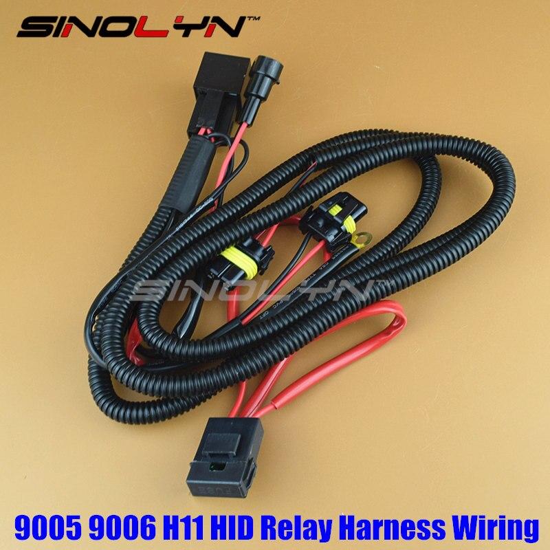 Sinolyn H11 9005 9006 relé para HID arnés bombillas de xenón cableado de Cable para accesorios de luces de coche Retrofit 12V 35W/55W Ajuste de estilo