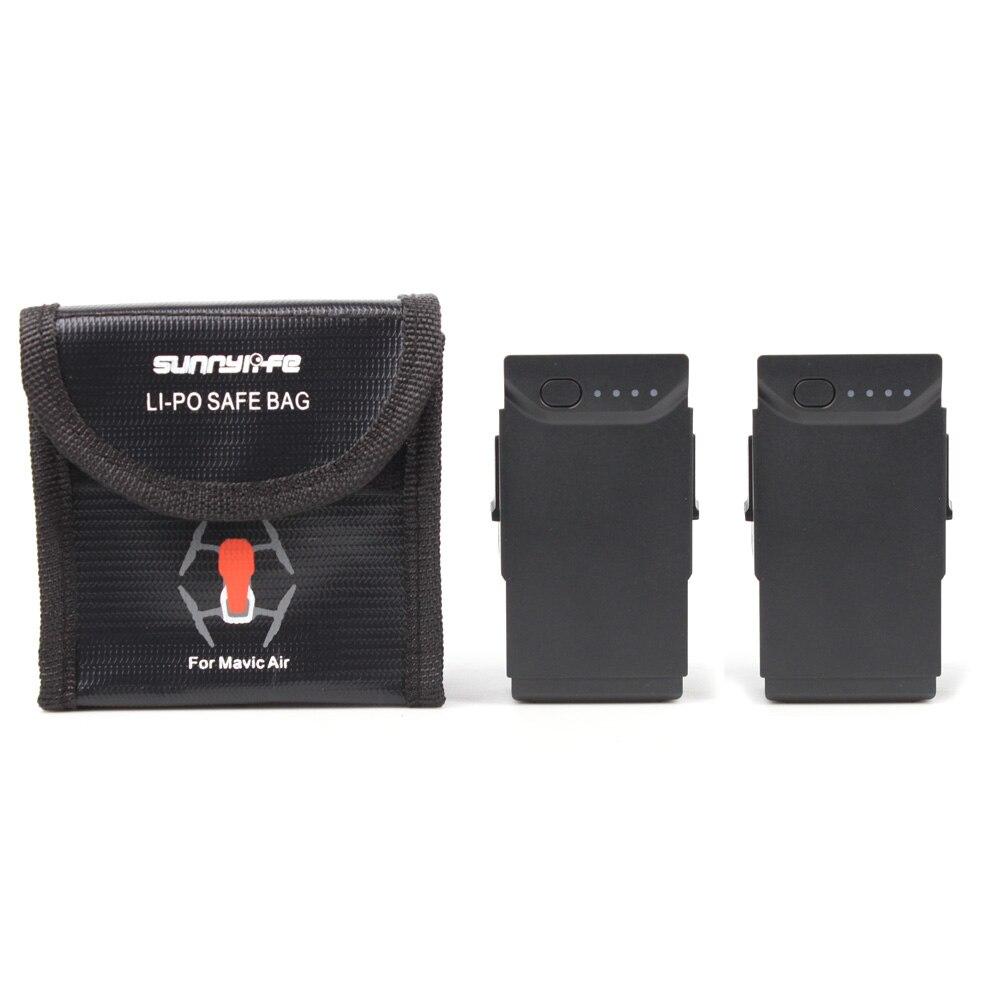 Caja protectora de batería para bolsa de almacenamiento a prueba de explosiones de aire DJI MAVIC, bolsa segura LiPo para accesorios de baterías de aire MAVIC