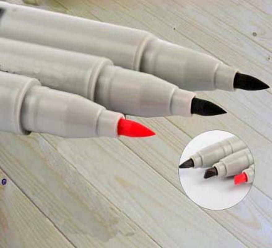 Marcador de bordado semipermanente, bolígrafo de posicionamiento impermeable, herramienta de tatuaje estéril duradera de cáñamo, tatuajes pintados, accesorios para la piel