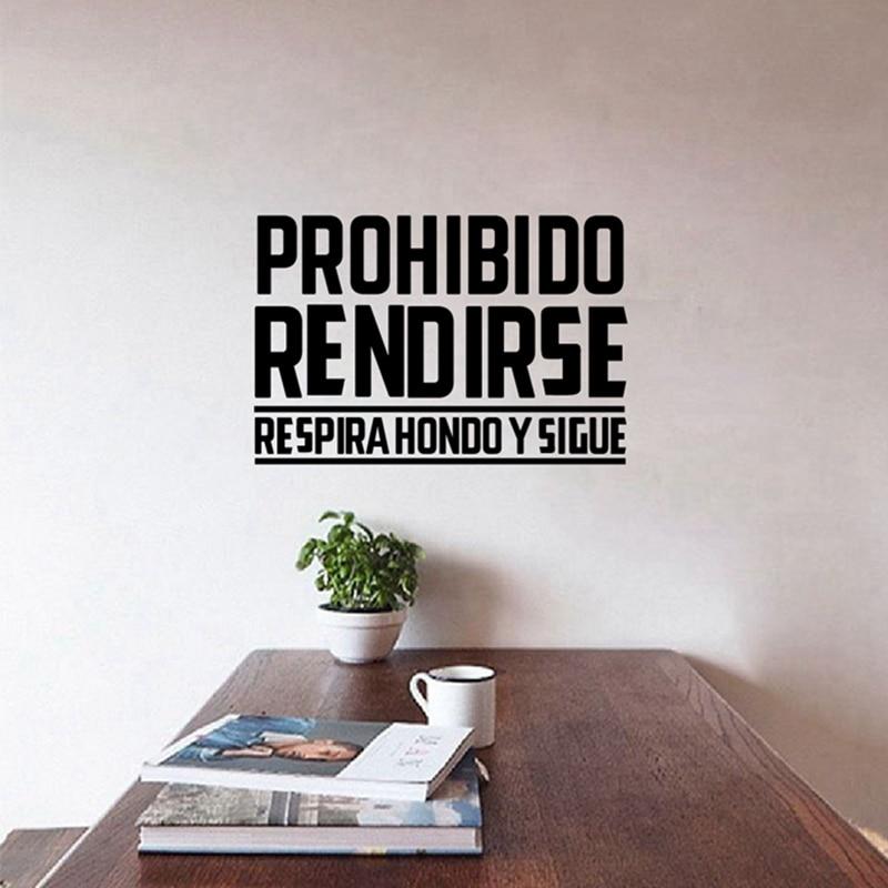Español oficina de pared de vinilo Pegatinas-adhesivos de pared con frase Casa...