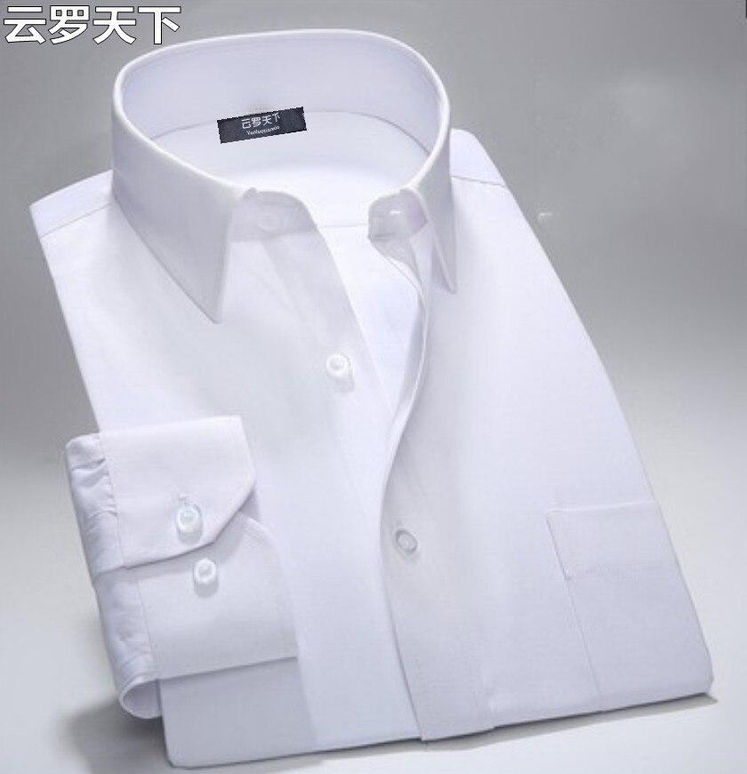 Frete grátis plus size xxxl 4xl 5xl 7xl 8xl 9xl da longo-luva branco camisas dos homens militares dos homens de cor sólida tops busto 160 cm camisa