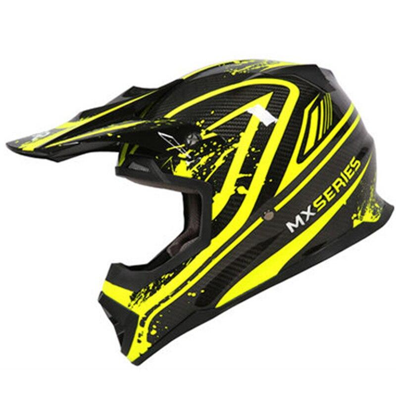 Casque en Fiber de carbone kelver léger   Casque de Moto sans route, casque croisé, équipement de course et de sport