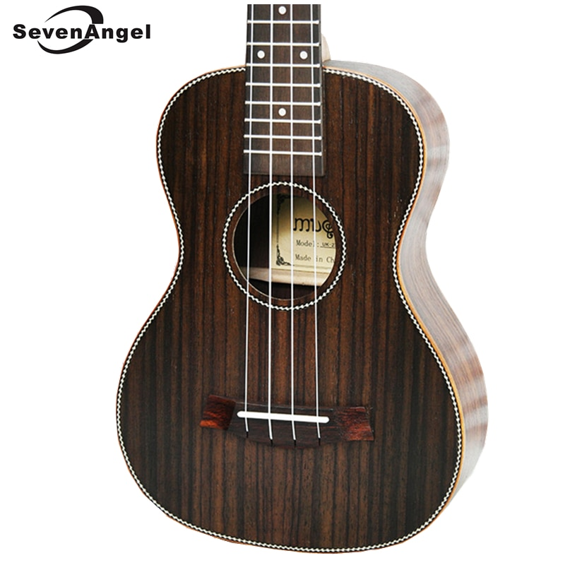 SevenAngel 26 zoll Tenor Akustische Ukulele Alle Palisander Hawaiian 4 Saiten Gitarre Elektrische Ukelele mit Pickup EQ AQUILA String
