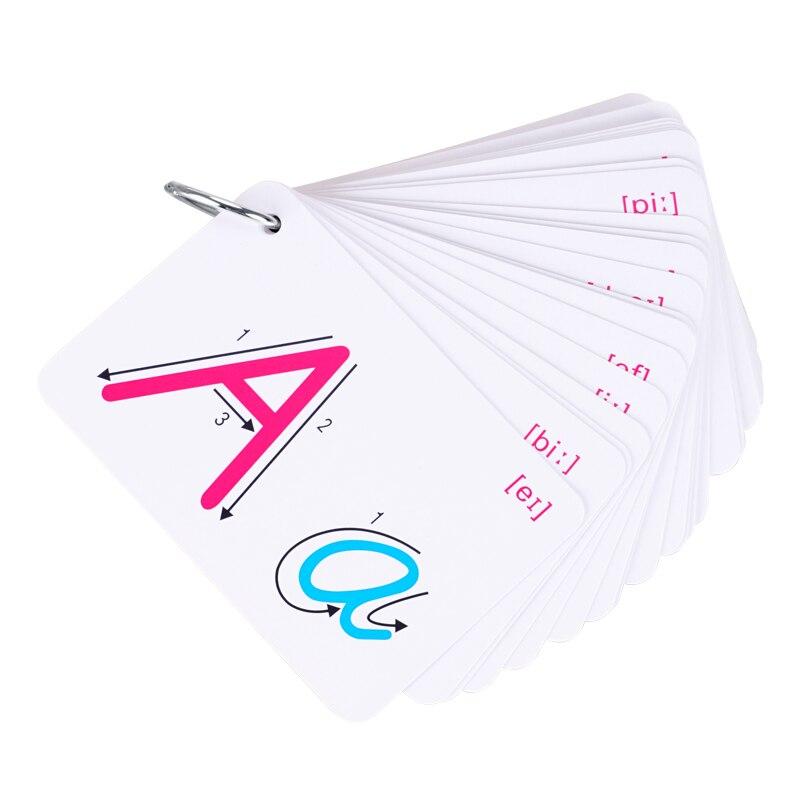 Montessori alfabeto tarjetas escritura Educatioanl juguetes para niños letras en inglés reglas de escritura Tutorial herramientas de enseñanza para niños
