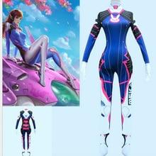 2019 costumes dhalloween impression 3D surmontres dame D VA Costume pour femmes grande taille Cosplay dva Zentai Spandex Dva body
