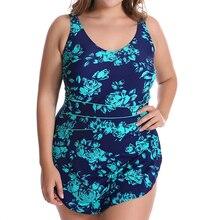 Push Up nowy 2018 jednoczęściowy strój kąpielowy kobiety gorący bubel kwiatowy Print brazylijski strój kąpielowy Plus rozmiar strój kąpielowy Sexy Halter kostiumy kąpielowe