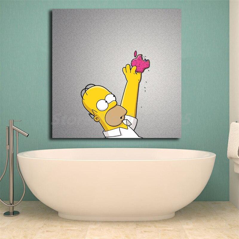 Papel pintado HD de Homer Simpsoning, pósteres artísticos de lienzo para pared, pinturas impresas, cuadros de pared para sala de estar, decoración del hogar